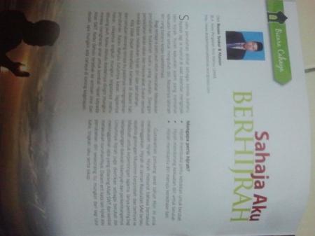Artikel terbaharu saya dalam Majalah Cahaya JAKIM